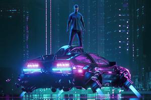 Dj Cyber Neon Boy 4k Wallpaper