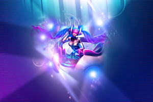 Dj Sona Ethereal League Of Legends Wallpaper
