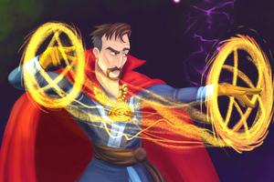 Doctor Strange Cartoony Art