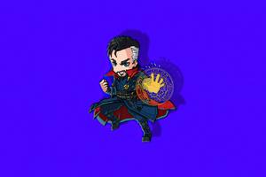 Doctor Strange Chibi Minimal 4k Wallpaper