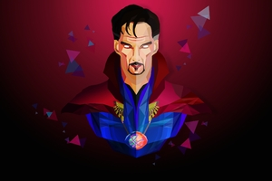 Doctor Strange Low Poly Art