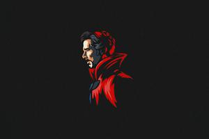 Doctor Strange Minimal 5k Wallpaper