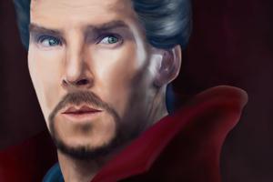 Doctor Strange Paint Art
