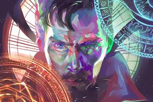 Doctor Strange Paint Artworks Wallpaper