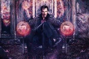 Doctor Strange Sitting On Chair