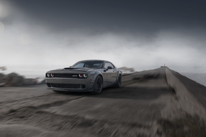 Dodge Challenger Demon SRT 4k Front Wallpaper