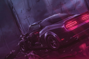 Dodge Challenger Dont Play With Demons Wallpaper