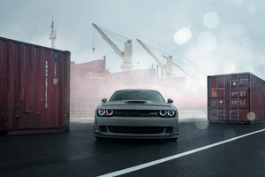 Dodge Challenger Front 4k Wallpaper