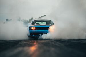 Dodge Challenger Hellcat Orange Eye