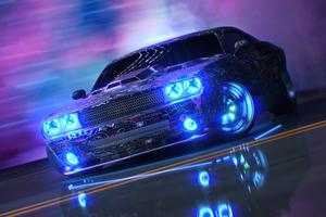 Dodge Challenger Neon Ride 5k Wallpaper