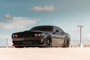 Dodge Challenger SRT 8k Front Wallpaper