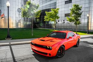Dodge Challenger SRT Hellcat Widebody 4k