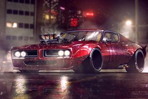 Dodge Charger Artwork 4k