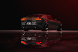 Dodge Charger Coupe Rear 4k Wallpaper