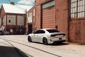 Dodge Hellcat Widebody Velgen KC Wide 8k Wallpaper