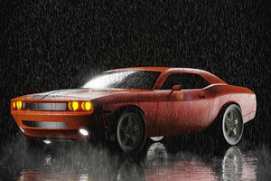 Dodge Night Challenger 5k Wallpaper