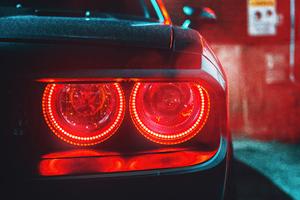 Dodge Red Angel Eyes 4k Wallpaper