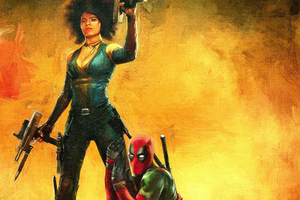 Domino And Deadpool 4k