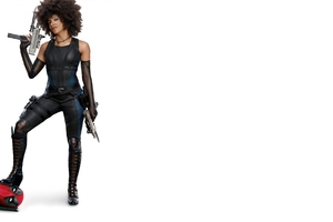 Domino And Deadpool In Deadpool 2 Wallpaper