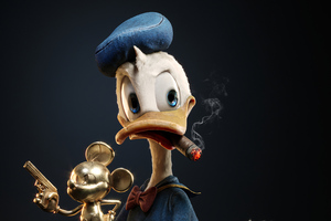 Donald Duck Found A Treasure 4k Wallpaper