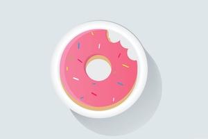 Donuts Minimalism 4k Wallpaper