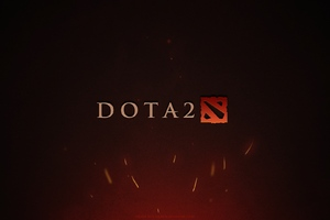 Dota 2 Game Logo Wallpaper