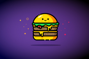 Double Cheeese Burger Minimalist 5k