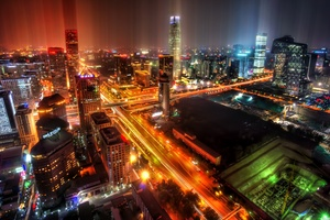 Downtown Beijing After Rain 4k