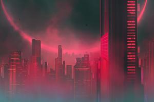 Downtown Mist 4k Wallpaper