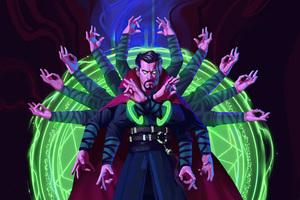 Dr Strange Look Into The Eye 8k Wallpaper