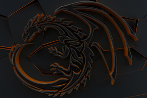 Dragon 3d Abstract Cgi Art