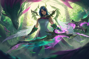 Dragon Ashe League Of Legends 5k Wallpaper
