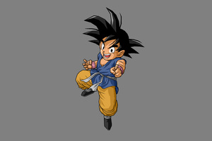Dragon Ball Son Goku 5k Minimalism