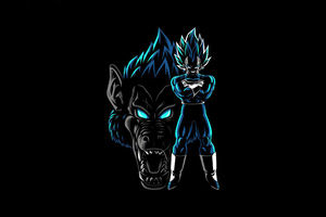Dragon Ball Z Ozaru Vegeta Blue 4k