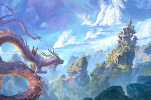 Dragon Cloud Fantasy Mountain Temple