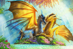 Dragon Couple Paradise 4k