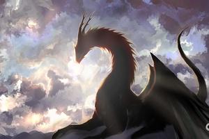 Dragon Fantasy Artwork 4k