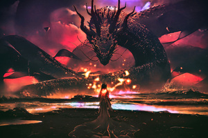 Dragon Goddess Artwork Fantasy Wallpaper