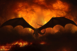Dragon In Flames