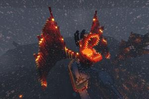 Dragon In Minecraft 4k