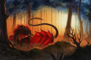 Dragon Lava 4k Wallpaper