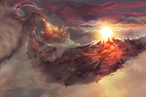 Dragon Painting Art 4k