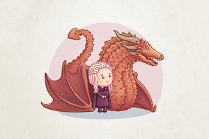 Dragon Queen Khaleesi Cartoon Artwork
