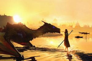 Dragon Shaman Sunset