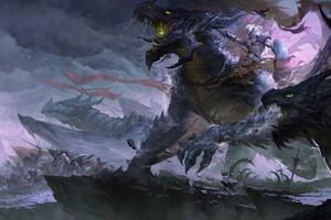 Dragon War 4k Wallpaper