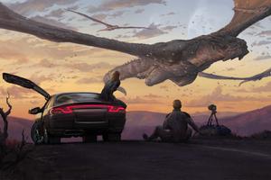 Dragons Flight Photographer Car Fantasy