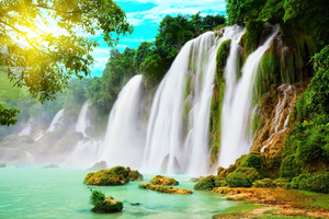 Dream Through Waterfall Wallpaper