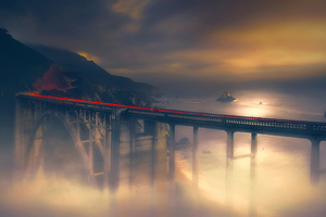 Dreamy Bridge Long Exposure 4k