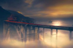 Dreamy Bridge Long Exposure 4k Wallpaper