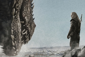 Drogon Vs Geralt Of Rivia Wallpaper